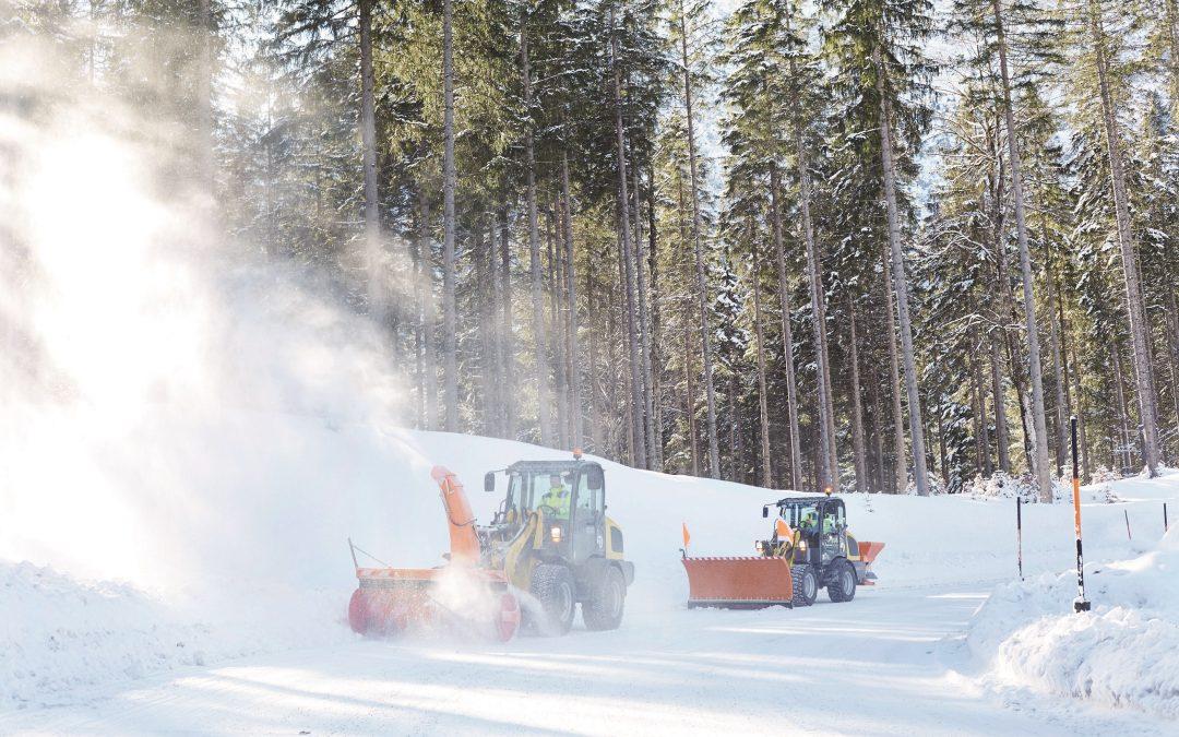 Wheel loaders in winter service