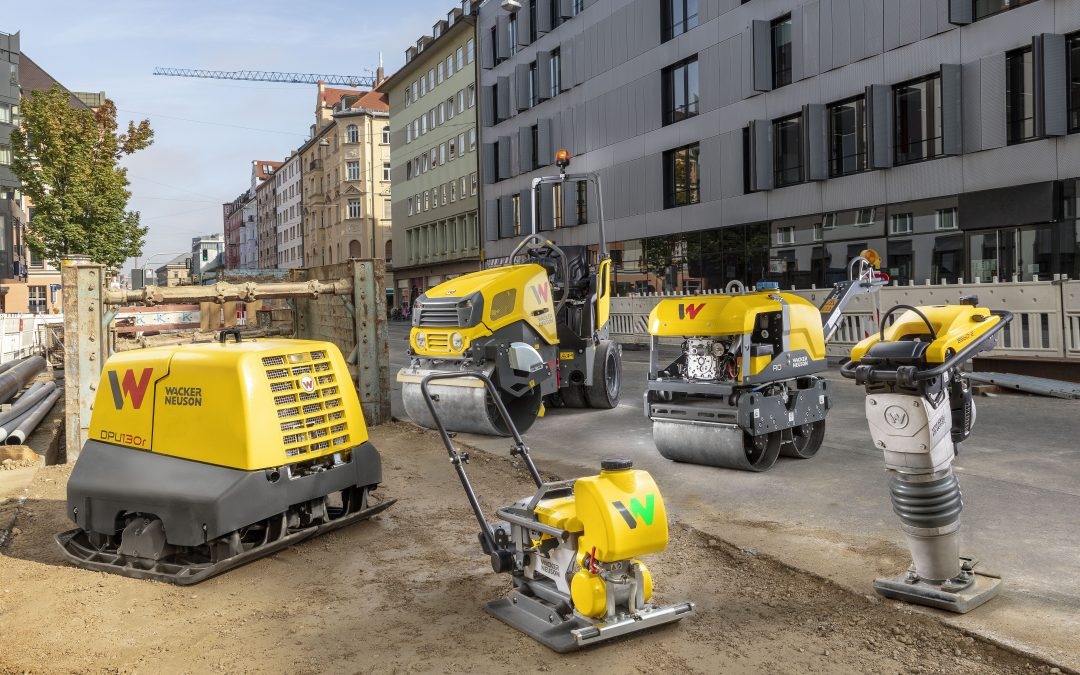 Bodenverdichtung in München: vom Stampfer bis zur Walze alles im Einsatz