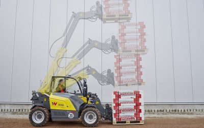 More productive with safety: telehandlers with driver assistance system VLS