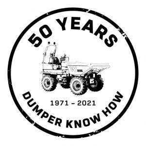 Logo 50 Jahre Dumper Know-how