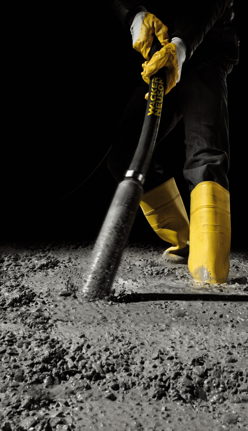 Tips for concrete consolidation with internal vibrators